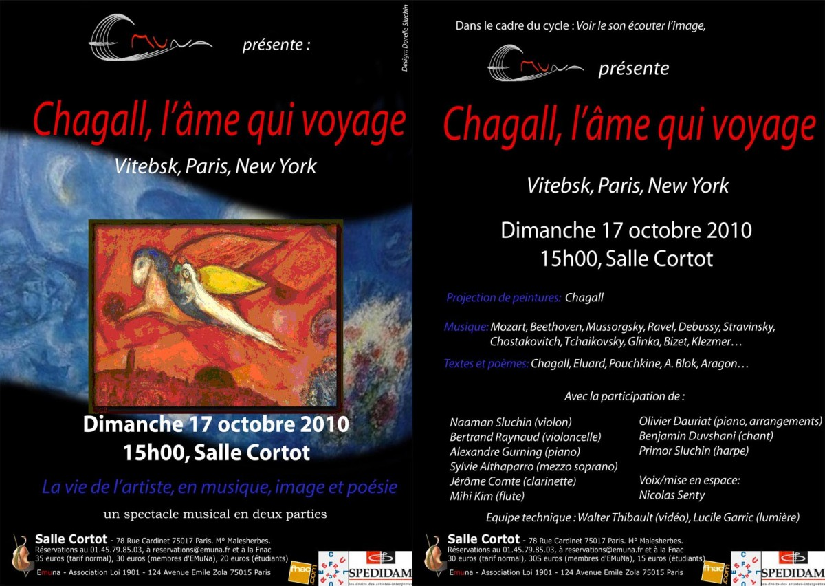 Flyer Concert Chagall